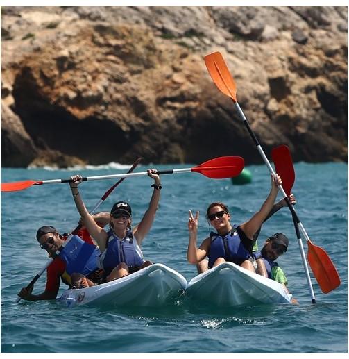 Open kayak dobles para 4...